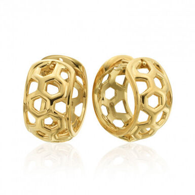 "Gumuchian Honeybee ""B"" 18k Yellow Gold Huggie Earrings_5f779f0ddb2bb.jpeg"